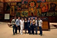German Castillo - Director Nacional de la Federación ecuatoriana de organizaciones LGBT, recibe el reconocimiento del 27 de Noviembre como el día Nacional de las Diversidades Sexo Genéricas LGBT en Ecuador 2