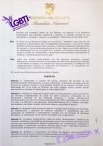Resolución del reconocimiento 27 de Noviembre 2016 como el día Nacional de las Diversidades Sexo Genéricas LGBT Ecuador - Gracias a la Federación ecuatoriana de organizaciones LGBT y Asoc. Silueta X 2