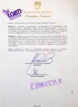 Resolución del reconocimiento 27 de Noviembre 2016 como el día Nacional de las Diversidades Sexo Genéricas LGBT Ecuador - Gracias a la Federación ecuatoriana de organizaciones LGBT y Asoc. Silueta X 3