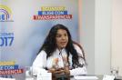 Diane Rodriguez habla ante el Consejo Nacional Electoral