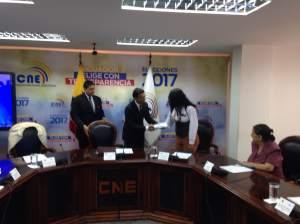 Juan Pablo Pozo y Diane Rodriguez firman acuerdo en favor de poblaciones LGBTI