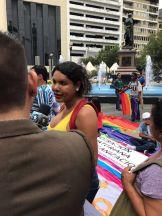 Dine Rodriguez activista transgenero y lgbt en el beso diverso 2017 federacion lgbt silueta x (3)