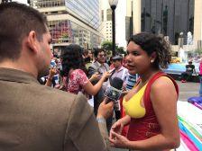 Dine Rodriguez activista transgenero y lgbt en el beso diverso 2017 federacion lgbt silueta x (7)