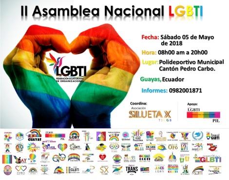 2da asamblea nacional de la federción ecuatoriana de organizaciones lgbti
