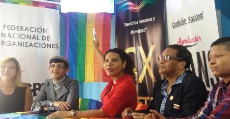 La Federación Ecuatoriana de Organizaciones LGBTI a traves de la Asociación Silueta X presentó el Estudio de percepción ciudadana de avances o retrocesos LGBTI 15