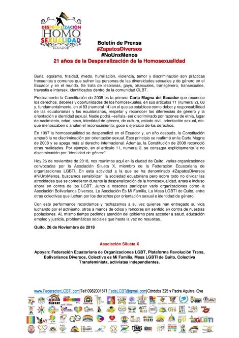 Boletín Boletín de Prensa Performance Zapatos Diversos - Asociación SIlueta X