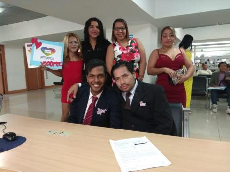 3er matrimono homosexual en Ecuador y el 1ero de hombres gays - Cámara LGBT Comercio Ecuador - Asociación Silueta X 9.jpg