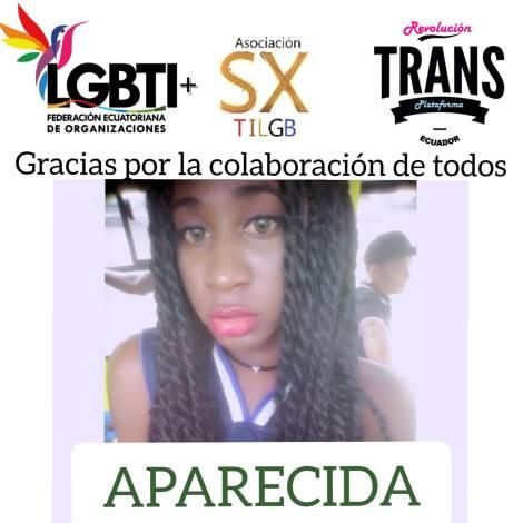 Joven trans desaparecida en Guayaquil es encontrada