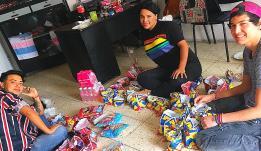 Agasajo de niños con VIH - SIlueta X - Cámara LGBT - Transmasculinos Ecuador 2019 -niños enfermeddes catastroficas (3)