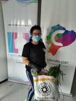 Donación de canastas y alimentos por parte de la Asociación Silueta X, centro Pisco Trans y La Camara LGBT de Comercio Ecuador - Covid19 - Apoyo Prefectura de Pichincha (7)