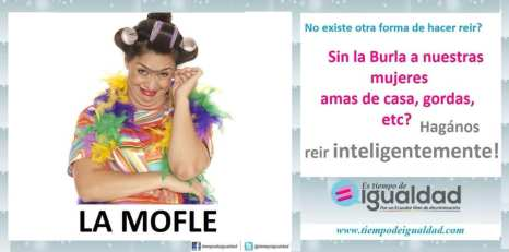 Campaña hazme reir inteligente mente Flor María Palomeque - La Mofle - Tiempo de Igualdad - Asociación SIlueta X
